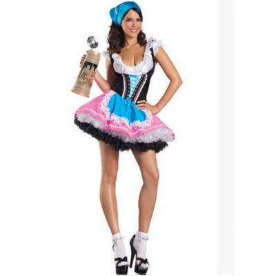 Halloween payment explosion models in Europe and America new sexy Halloween Costume maid Oktoberfest
