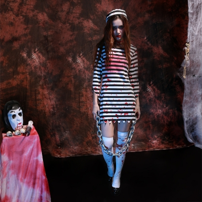 Halloween Horror Zombie bloody clothes female prisoners