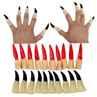 Sadako fingernails fingers Halloween witch Halloween horror props whole person ghost finger