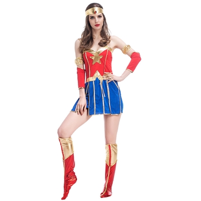 Superman Costume Halloween COS Apparel American Comics Superman Womens Heroic Costume