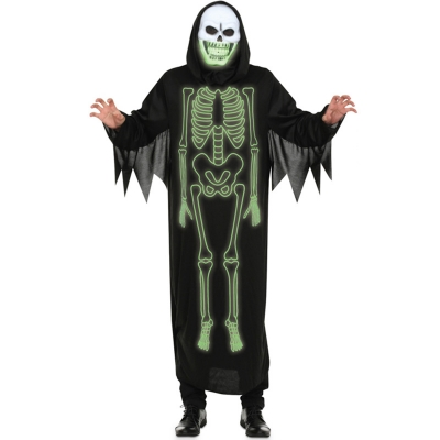 2017 Halloween new luminous skull male ghosts COS clothes Europe and the United States Funny men night wandering soul