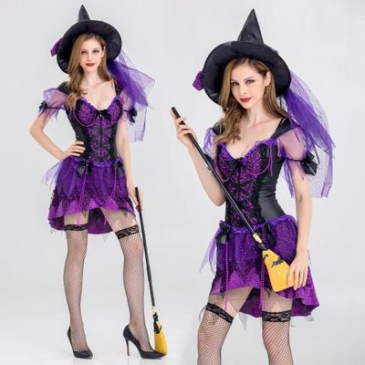 Halloween Purple Witch Witch Costume Halloween Party Party Sexy Stage Costume Costume