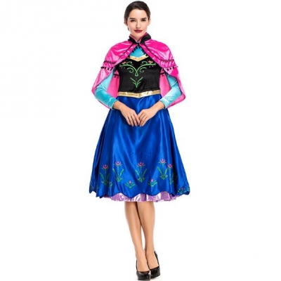 Cosplay fairy tale dress stage costume Halloween princess dress anna dress