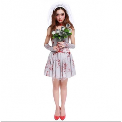 Bloody Ghost Bride Ghost Festival Halloween Costume Game Suit