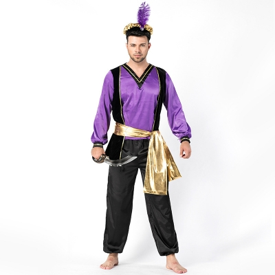 2018 new men's Arab clothing store new Turkish monarch role playing suit Halloween ball suit