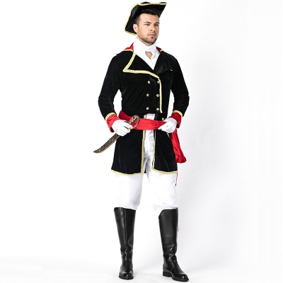 2018 new Halloween costume pirate stage play suit male knight uniform cosplay suit British inspection soldier honours team