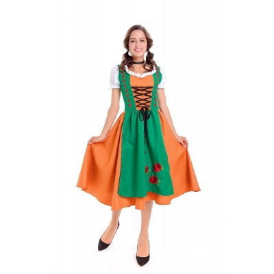 German Oktoberfest clothing men and women couples beer restaurant beer service student clothing