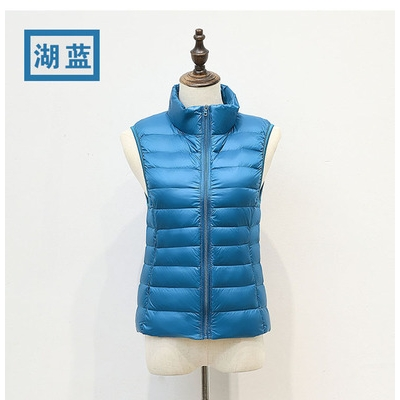 2019 autumn and winter down vest ladies stand collar casual light short vest vest liner down jacket coat female
